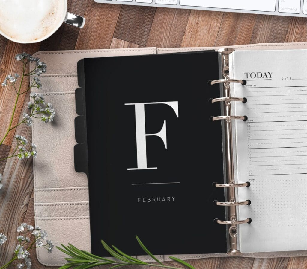 Free Monthly Calendar Planner Divider Pages 1