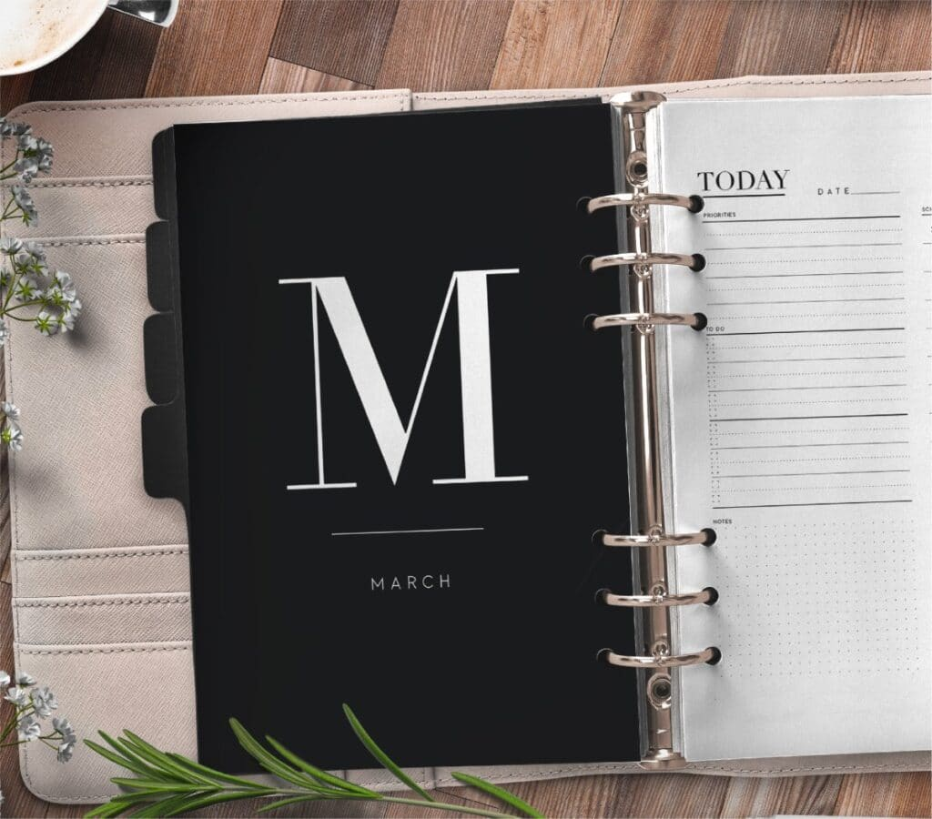 Free Monthly Calendar Planner Divider Pages 2