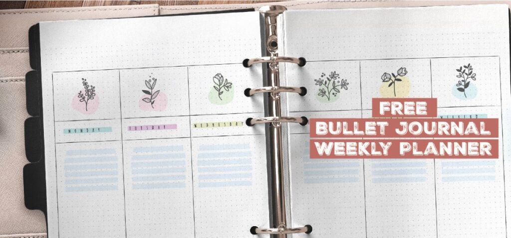 Free Printable Bullet Journal Weekly Planner