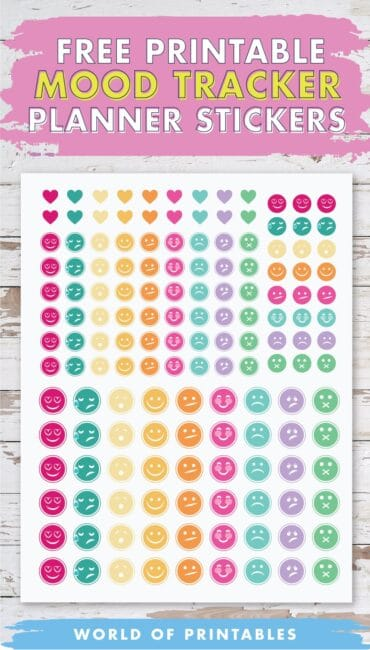 Free Printable Mood Tracker Planner Stickers