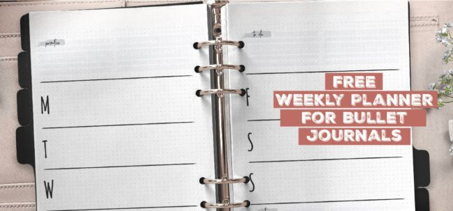 Free Weekly Planner For Bullet Journals