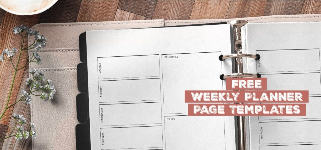 Free Weekly Planner Page Templates