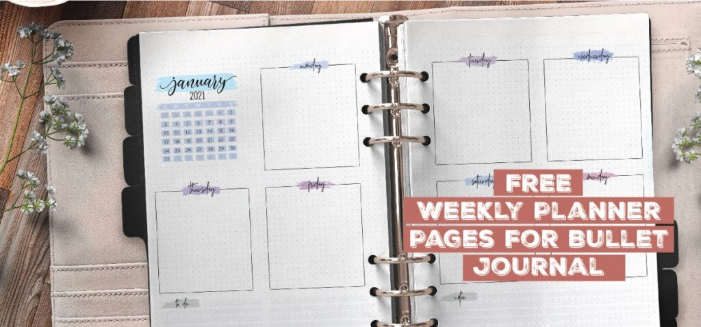 Free Weekly Planner Pages For Bullet Journal