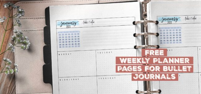 Free Weekly Planner Pages For Bullet Journals
