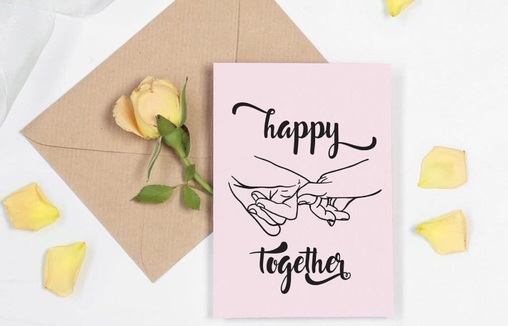 Happy together valentines printable card