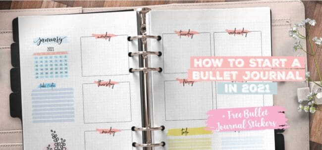 How To Start A Bullet Journal 2021