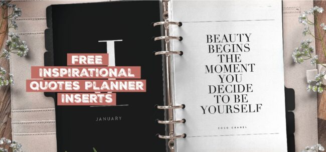 Inspirational Quote Planner Insert Printable
