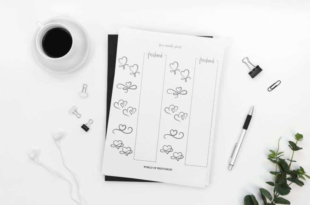 Bullet Journal Doodle Sheets