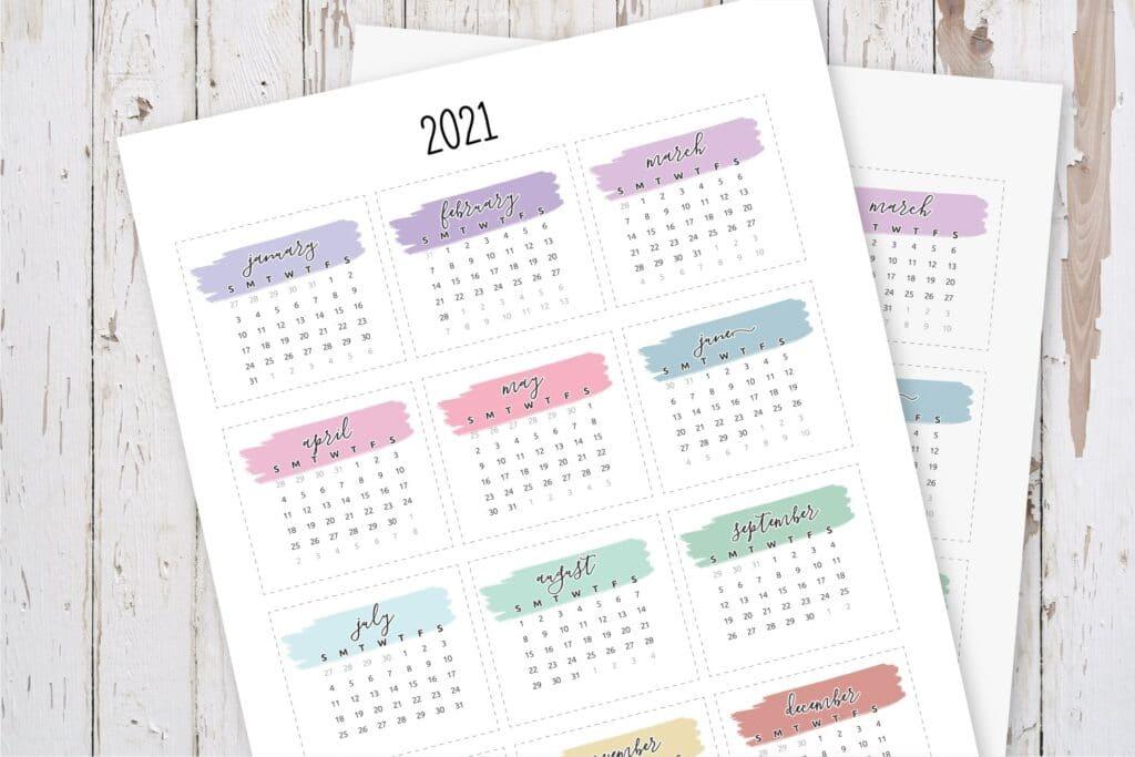 Mini Calendar Planner Stickers-2