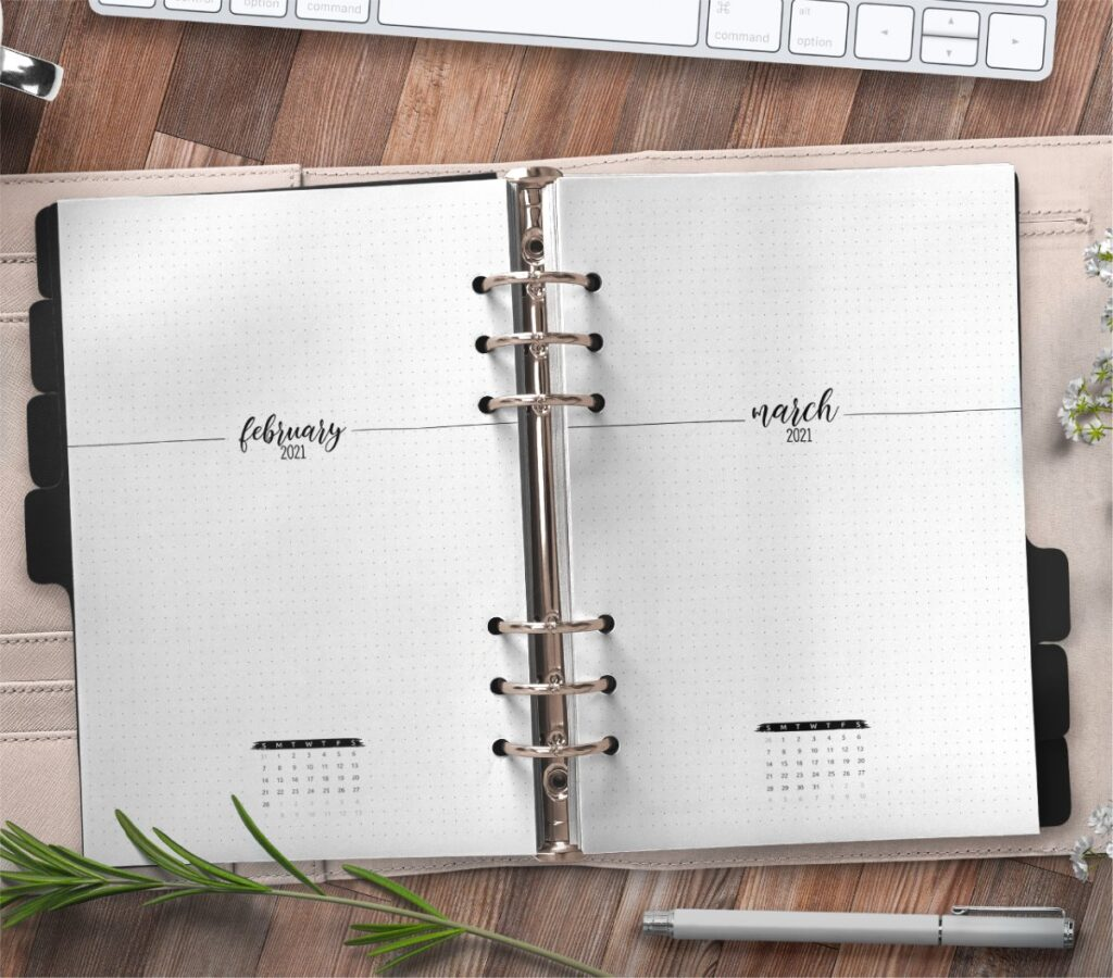 Month At A Glance Planner Insert Free Printable
