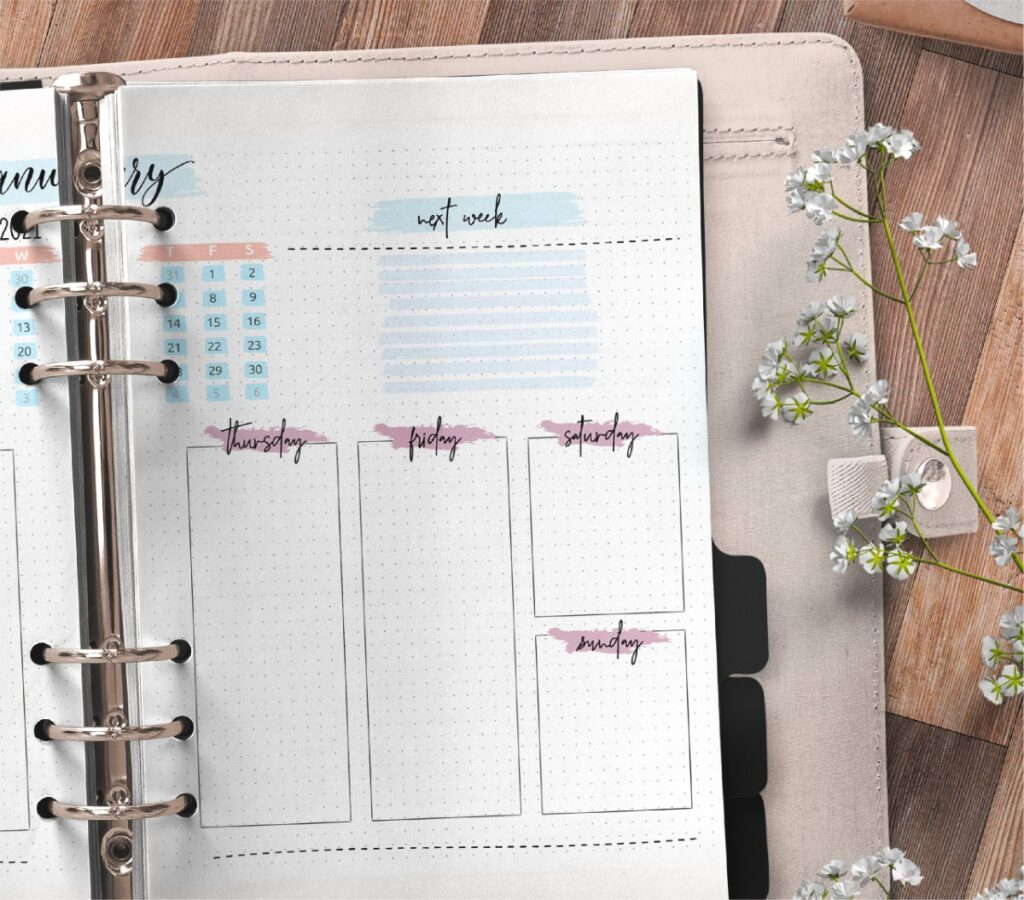 Monthly Bullet Journal Layout Pages Free Printable 2