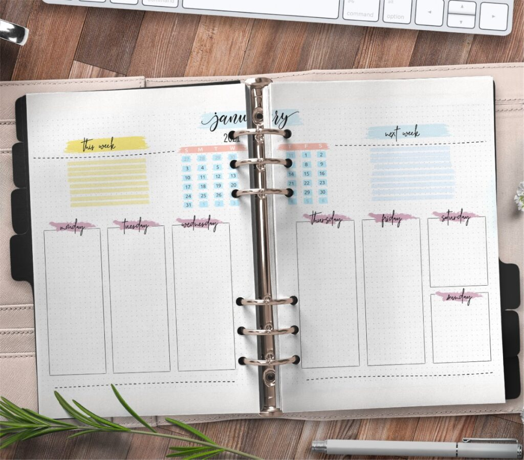 Monthly Bullet Journal Layout Pages Free Printable 3