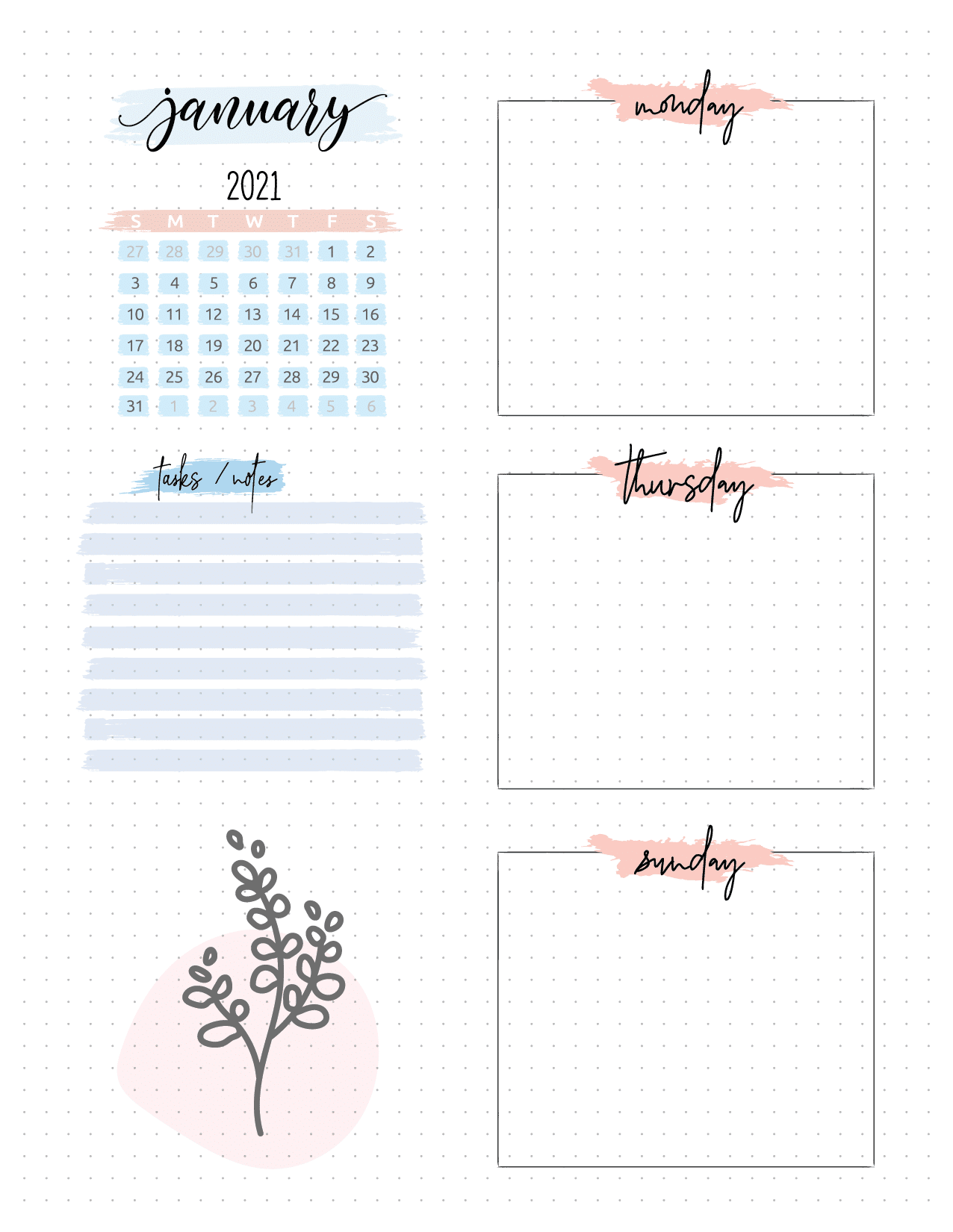 Monthly Planner Insert On Two Pages-01