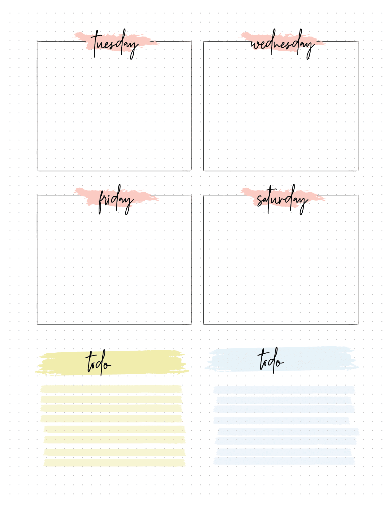 Monthly Planner Insert On Two Pages-02