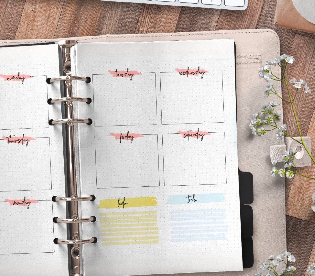 Monthly Planner Insert On Two Pages Free Printable 2