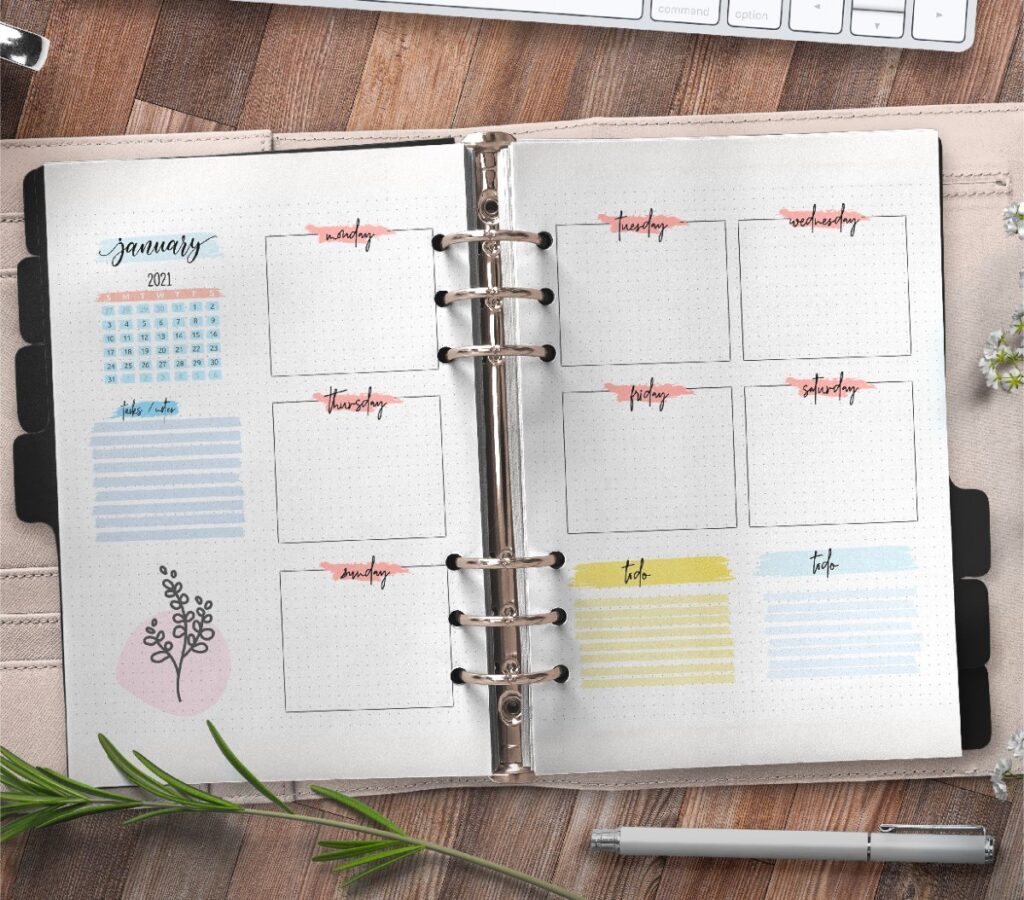 Monthly Planner Insert On Two Pages Free Printable 3