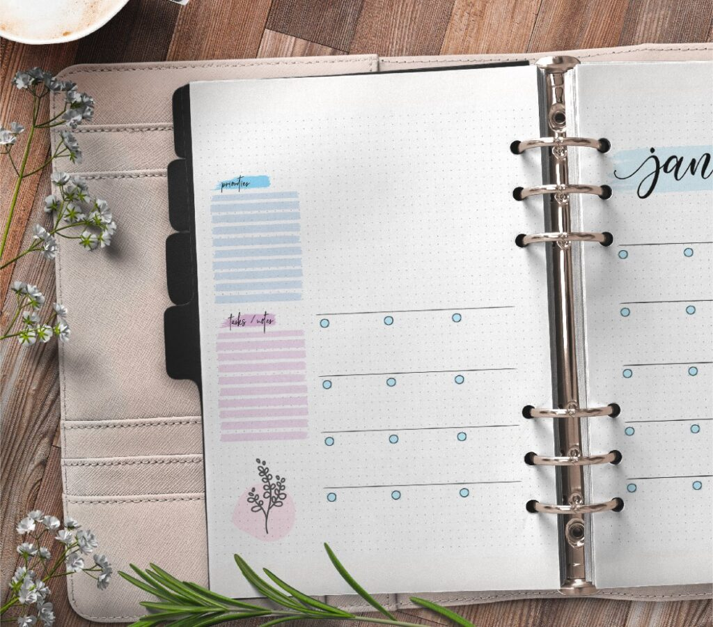 Monthly Planner On Two Pages Free Printable 1