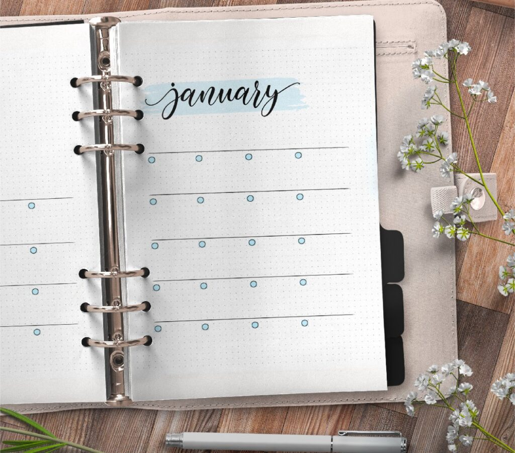 Monthly Planner On Two Pages Free Printable 2