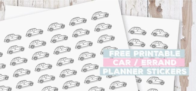 Printable Car Planner Stickers