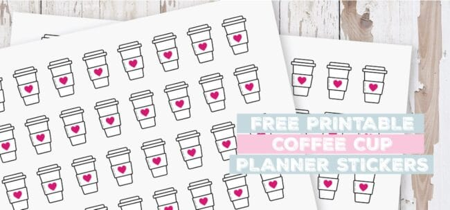 Printable Coffee Cup Planner Stickers