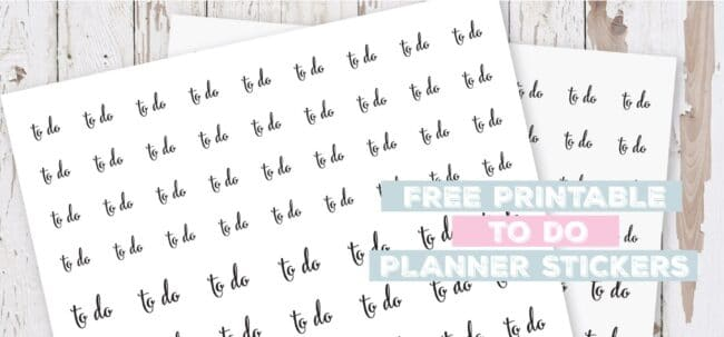 Printable To Do Planner Stickers