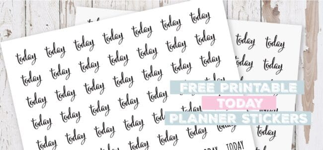 Printable Today Planner Stickers