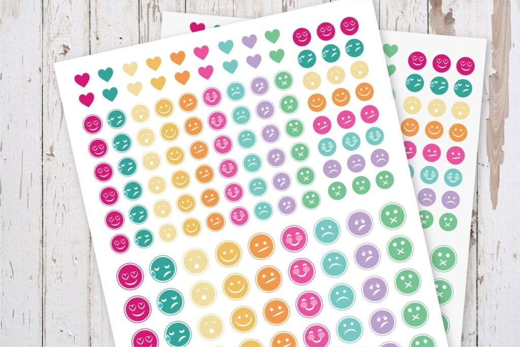Printable Mood Tracker Planner Stickers