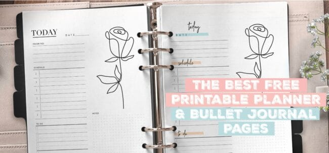 The Best Free Printable Planner and Bullet Journal Pages