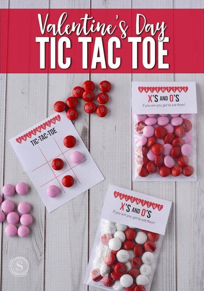 Valentine's Day Tic Tac Toe Board & Bag Topper