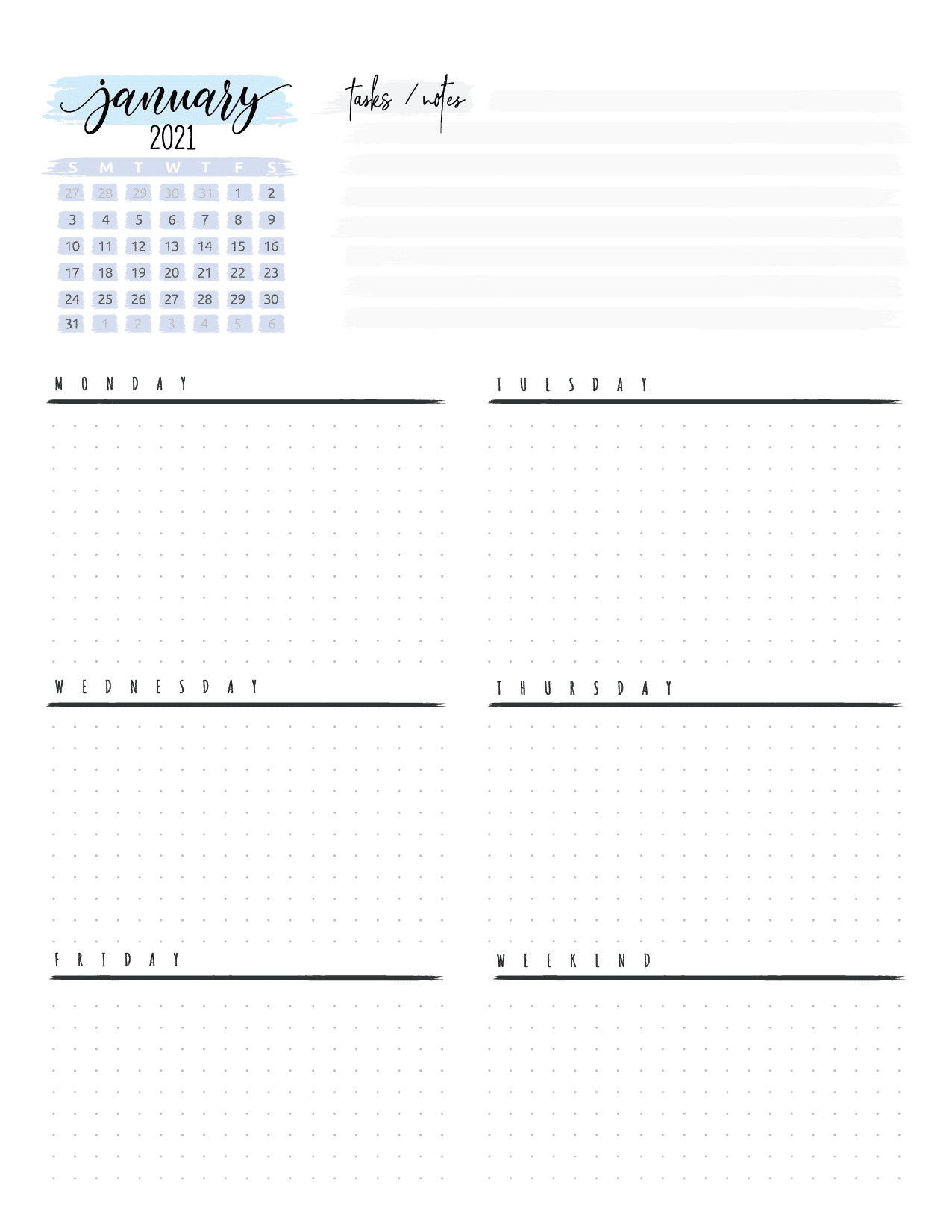 Weekly Planner And Bullet Journal Pages-02