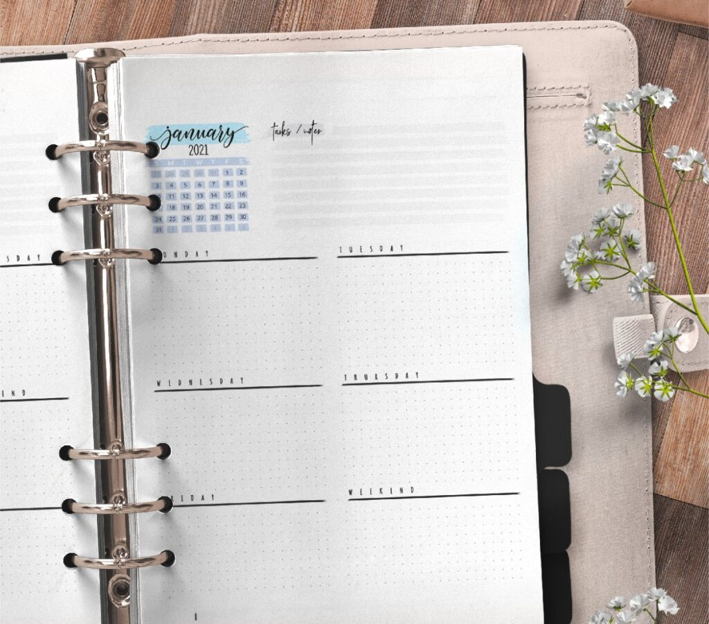 Weekly Planner And Bullet Journal Pages Free Printable 2