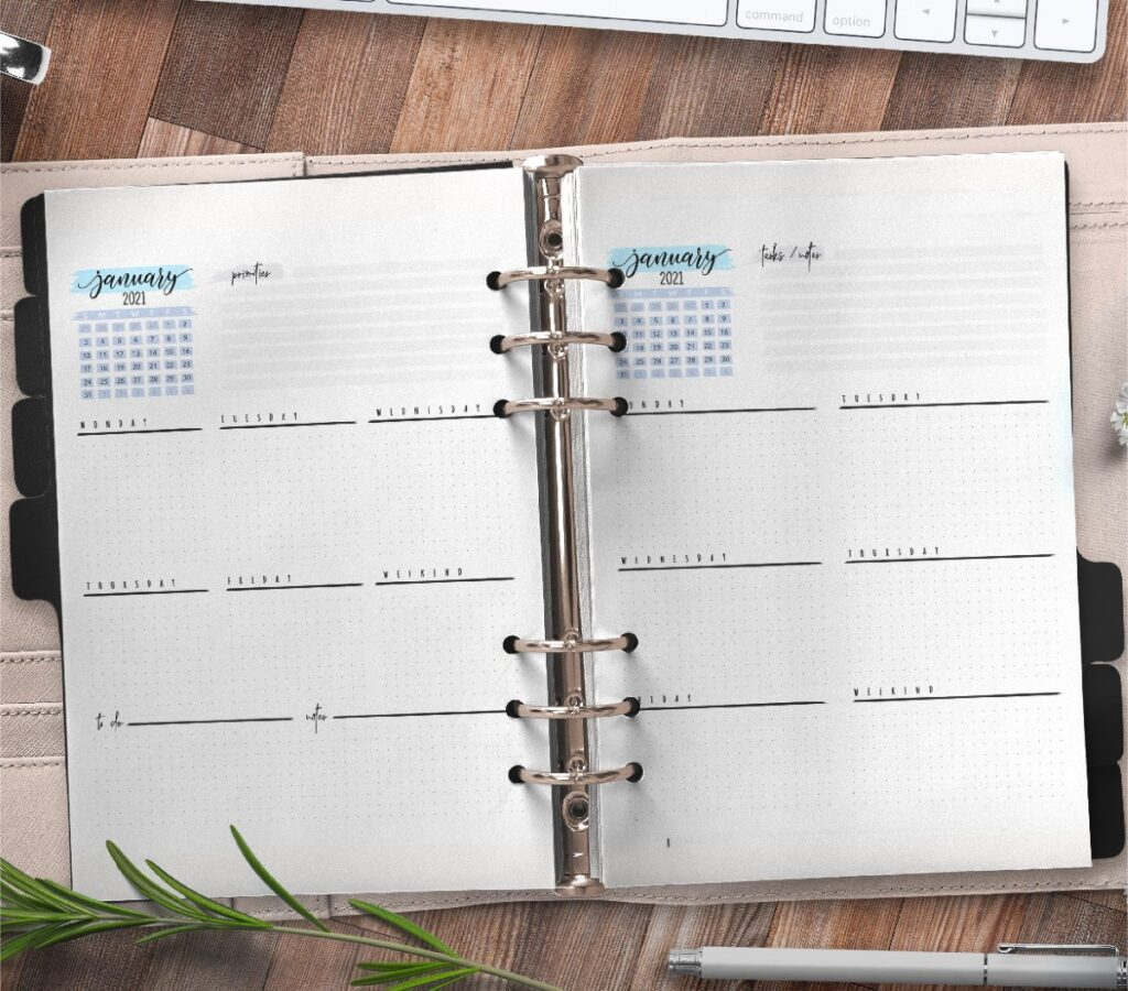 Weekly Planner And Bullet Journal Pages Free Printable 3