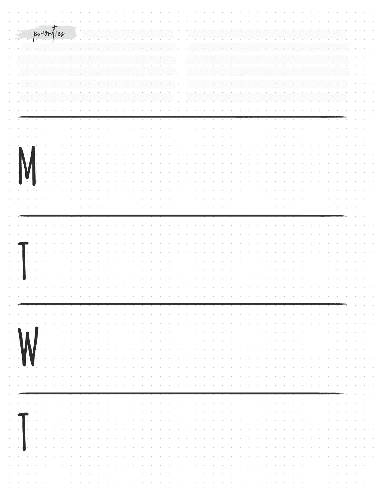 Weekly Planner For Bullet Journals-01