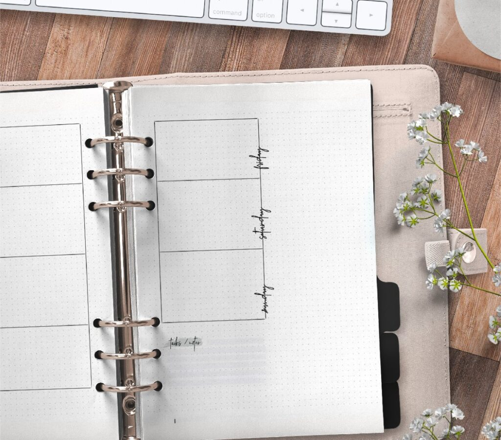 Weekly Planner In Bullet Journal Style Free Printable 2