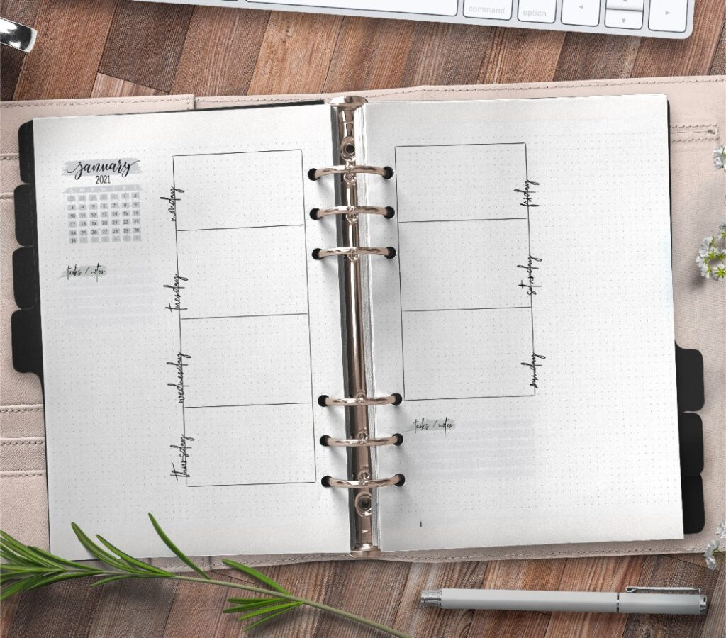 Weekly Planner In Bullet Journal Style Free Printable 3