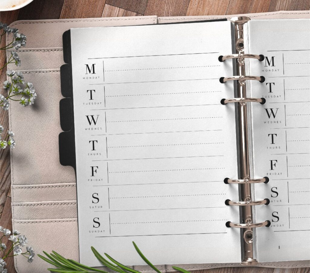 Weekly Planner Insert For Priorities On One Page Free Printable 1