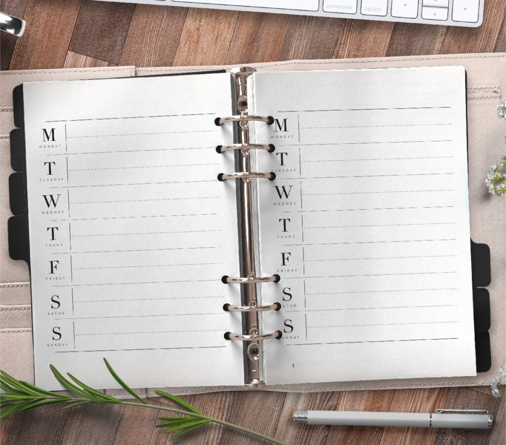 Weekly Planner Insert For Priorities On One Page Free Printable 3