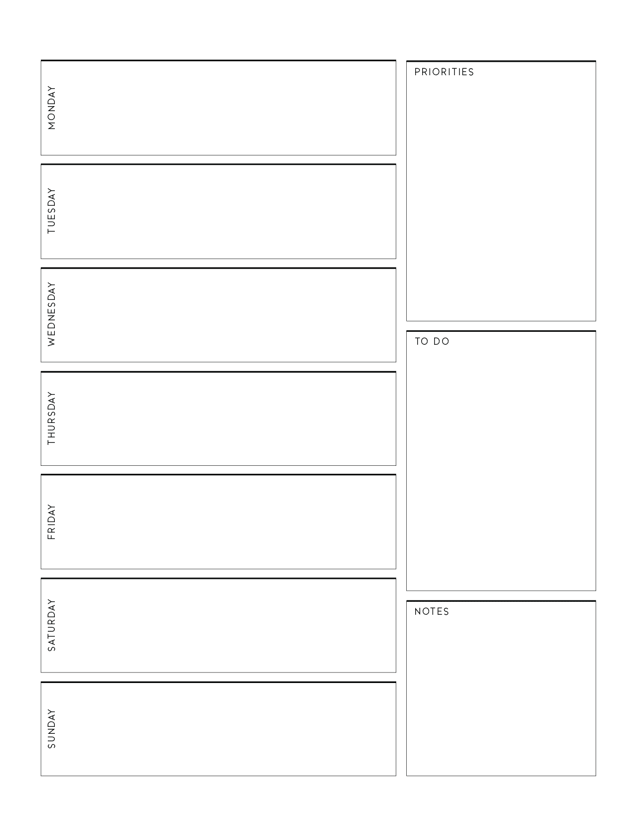 Weekly Planner Page Templates-01