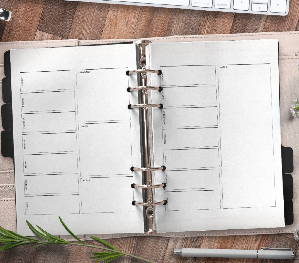 Weekly Planner Page Templates Free Printable 2