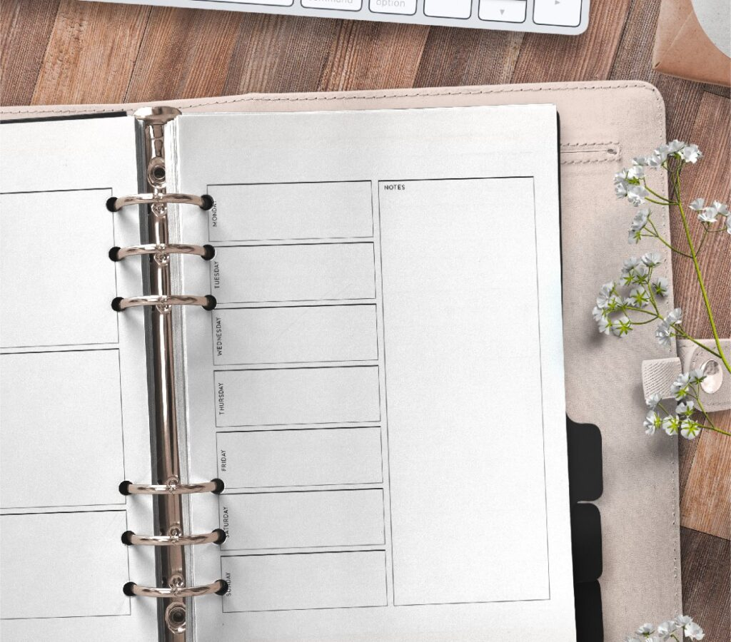 Weekly Planner Page Templates Free Printable page 2