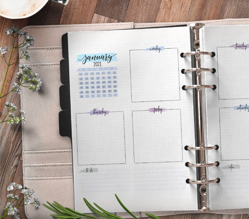 Weekly Planner Pages For Bullet Journal Free Printable 1