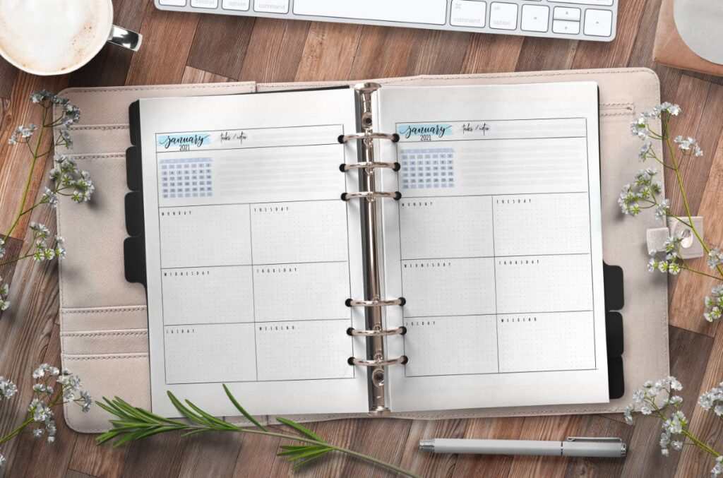 Weekly Planner Pages For Bullet Journals Free Printable