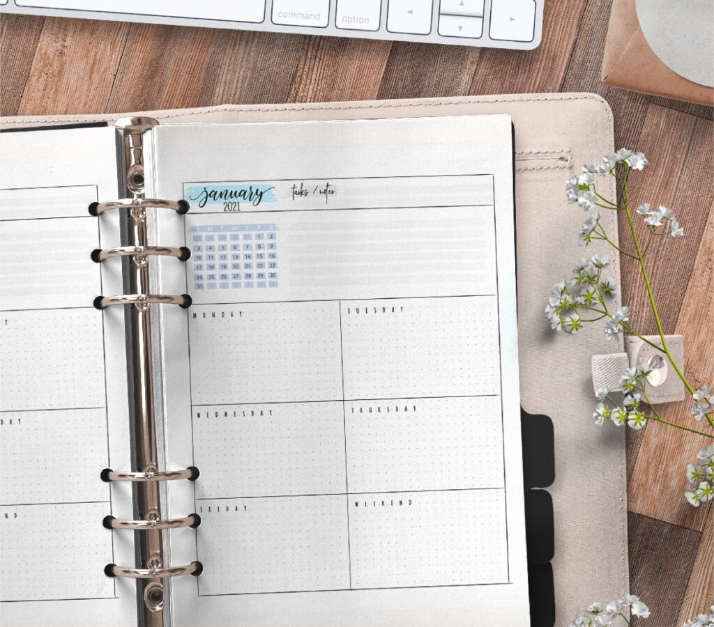 Weekly Planner Pages For Bullet Journals Free Printable 2