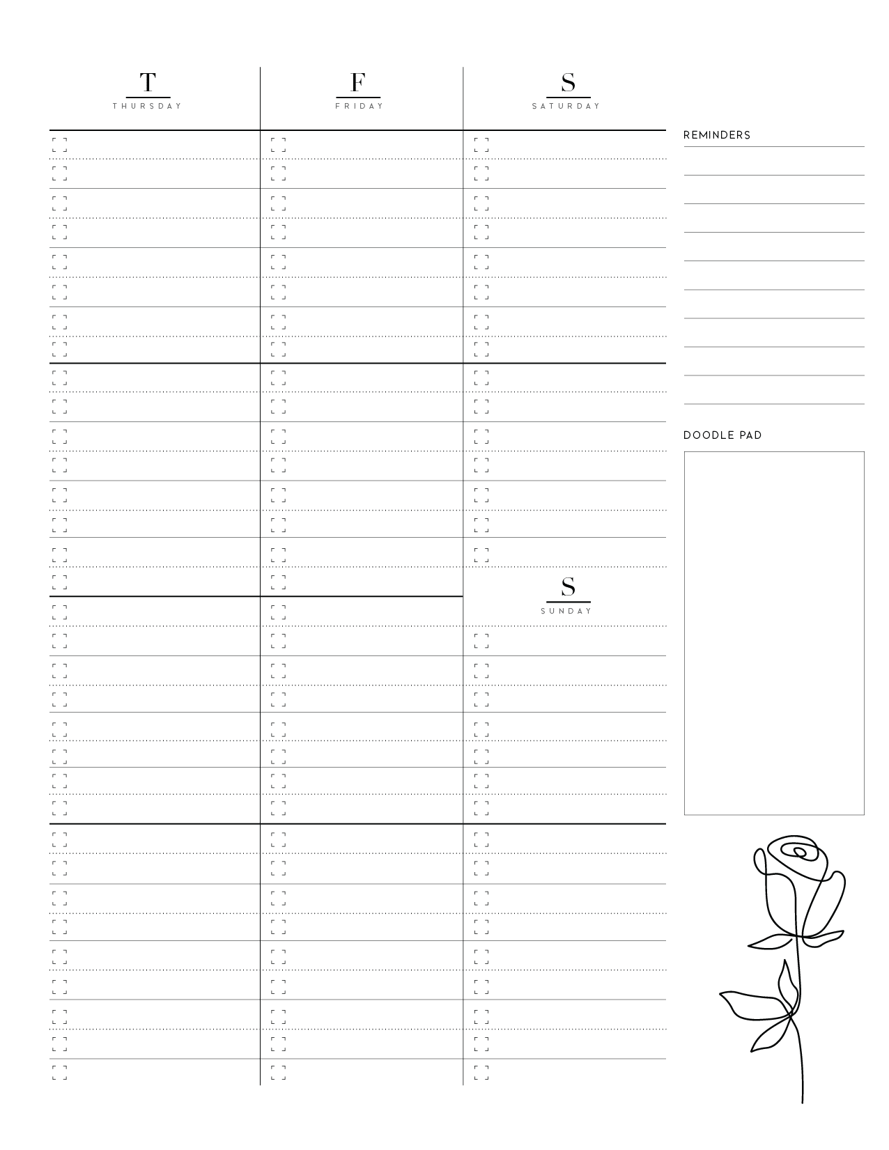 Weekly Planner Pages On Two Page Layout-02