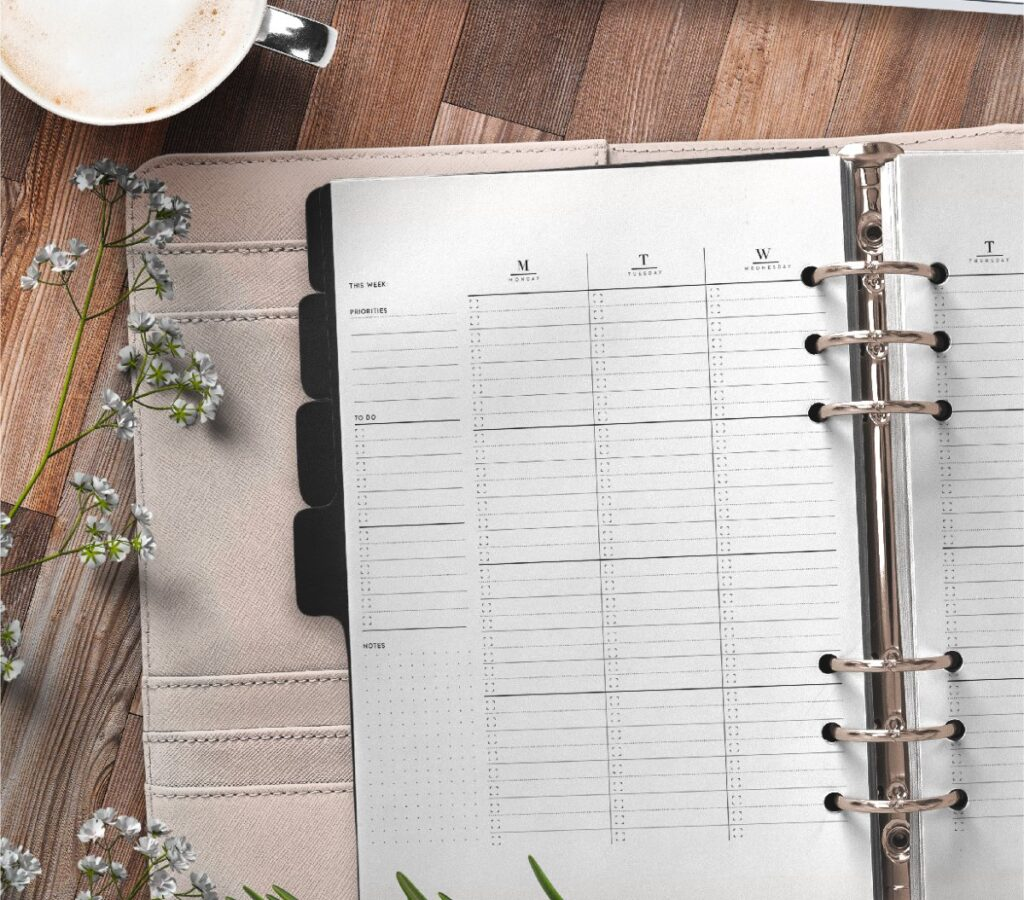 Weekly Planner Pages On Two Page Layout Free Printable 1