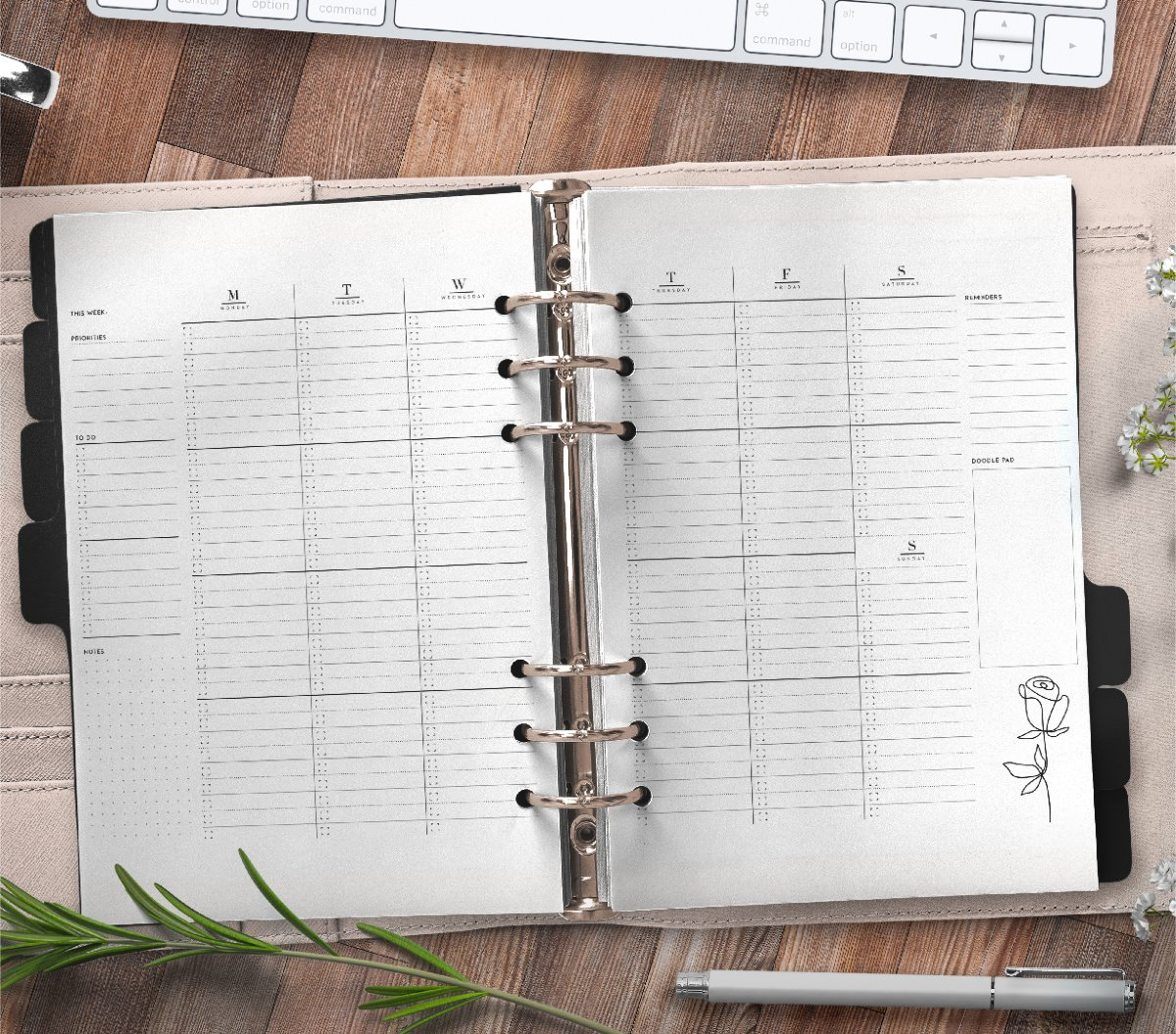 Weekly Planner Pages On Two Page Layout Free Printable 3