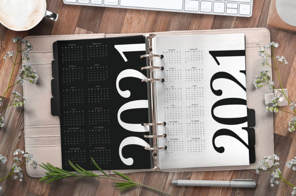 Year At A Glance Planner Page Free Printable