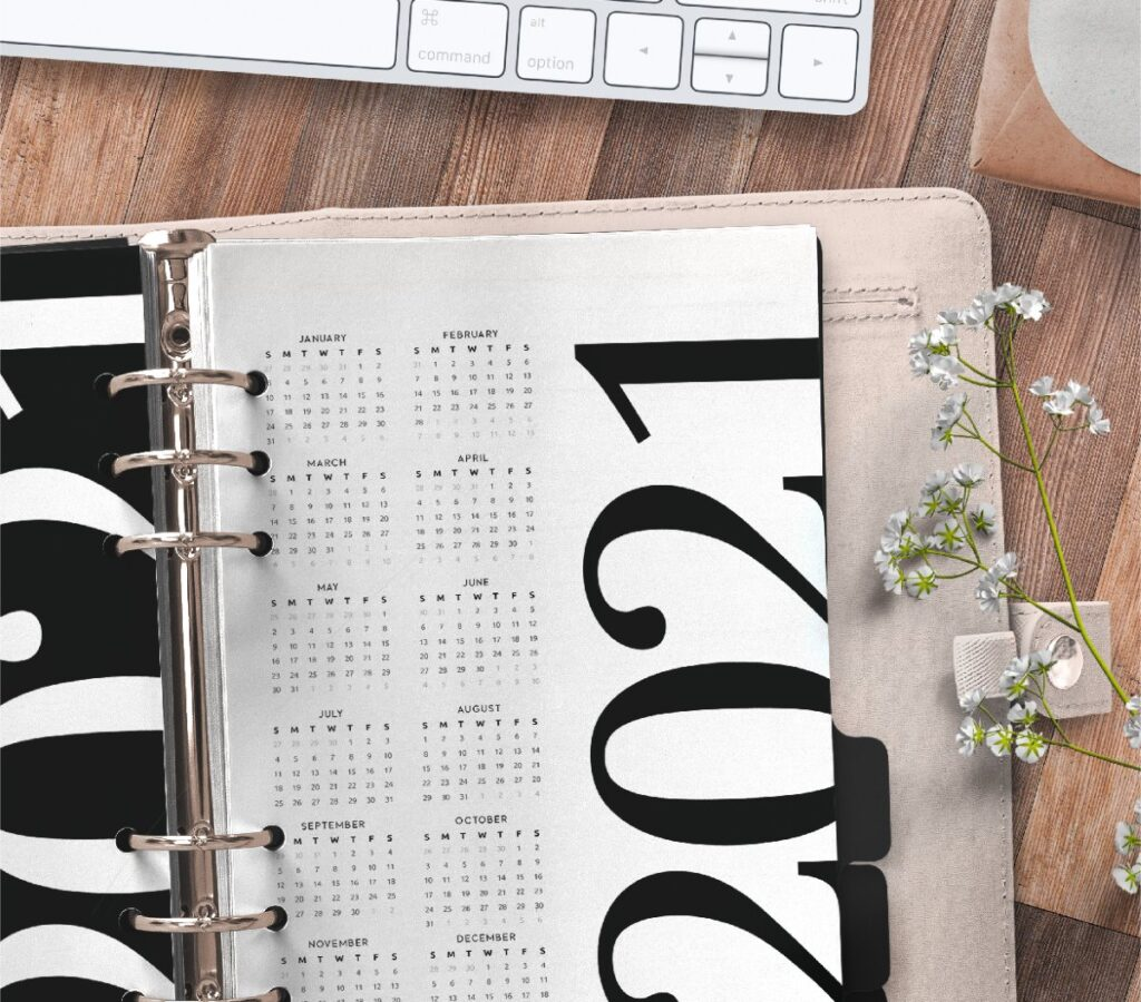 Year At A Glance Planner Page Free Printable 2