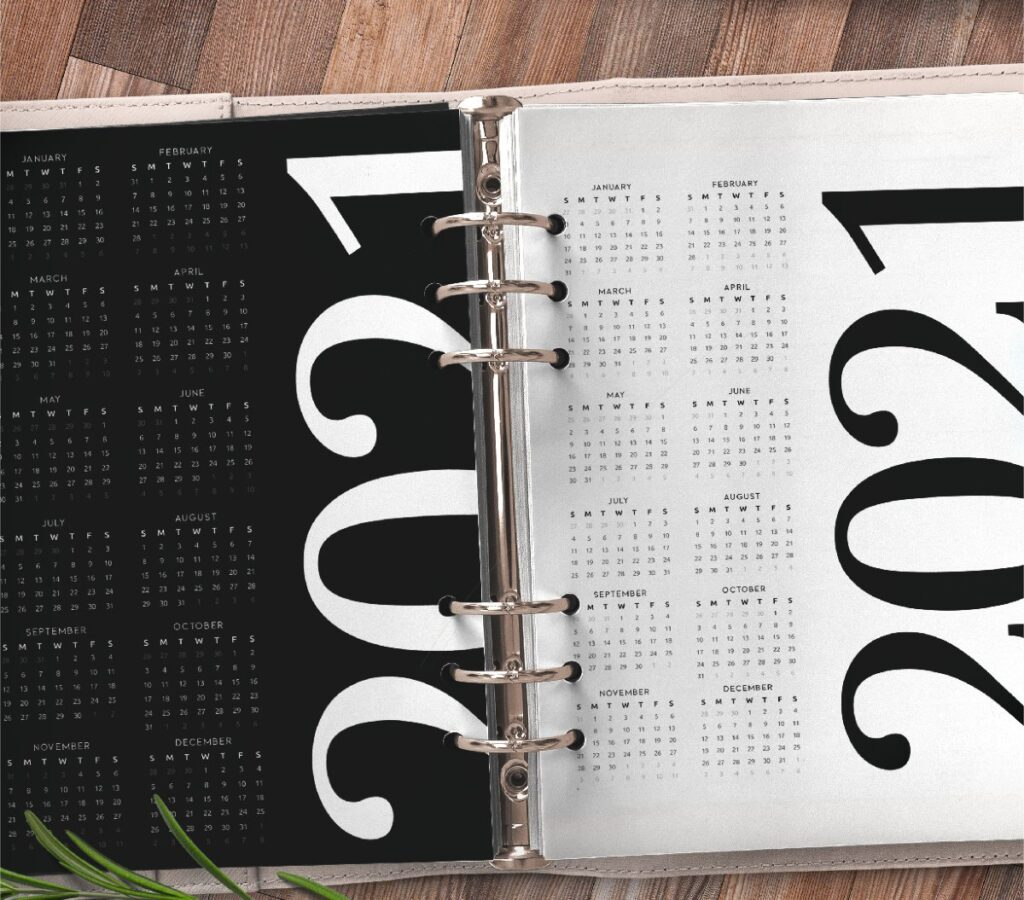 Year At A Glance Planner Page Free Printable 4