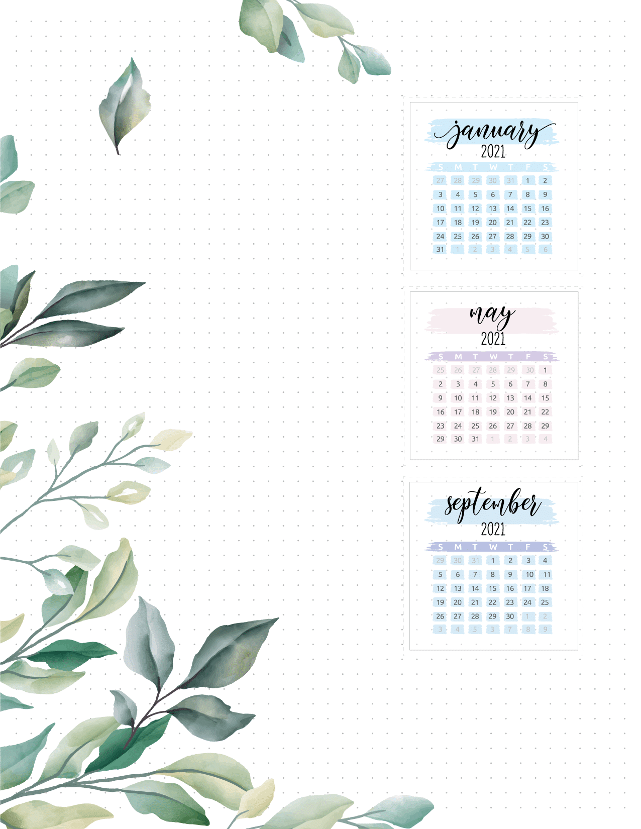 Yearly Planner Insert On Two Pages-01